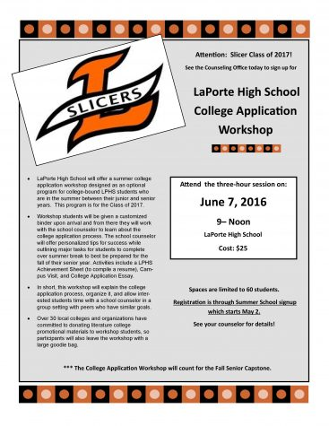 LPHS College Application Summer Workshop