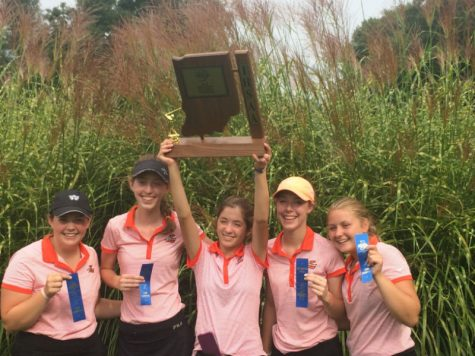 Girl's golf goes out with a bang