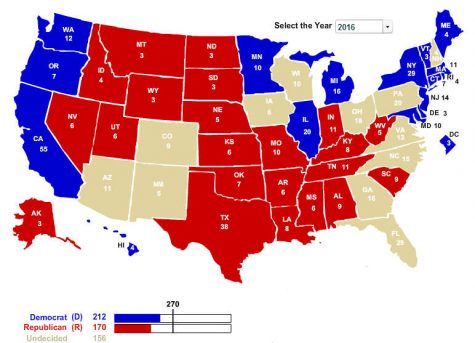 Battleground states shift in the election