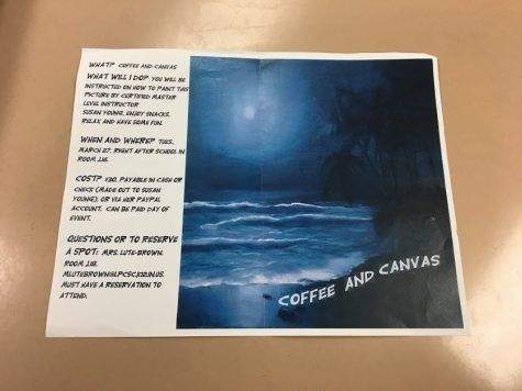 Coffee and Canvas at LPHS