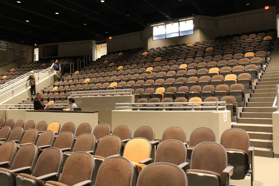 Seating in the new PAC.
