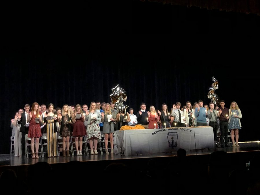 National Honor Society inductions take place