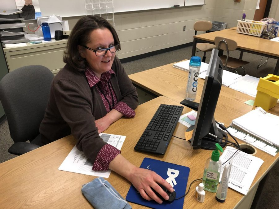 Mrs. Salyer helps Slicers succeed in math