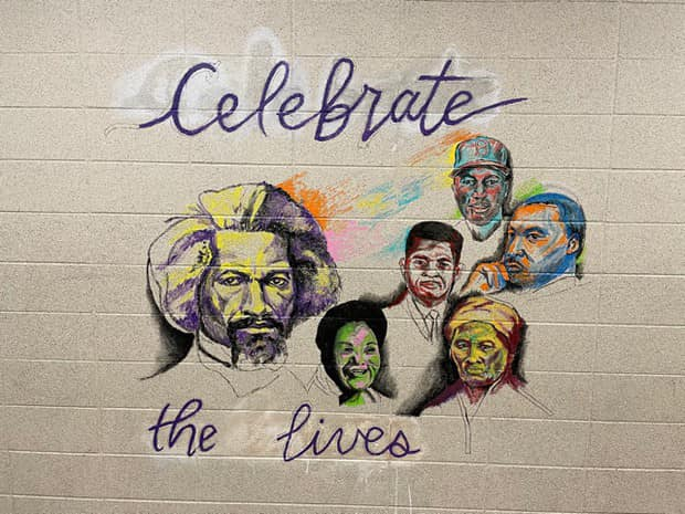 LPHS' new Black History Month mural